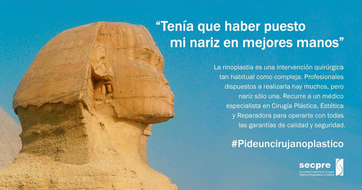 Campaña #Pideuncirujanoplastico sobre rinoplastias