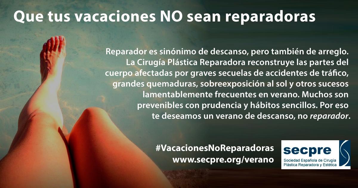 """La Sociedad Española de Cirugía Plástica desea a los españoles unas vacaciones """"no reparadoras"""""""
